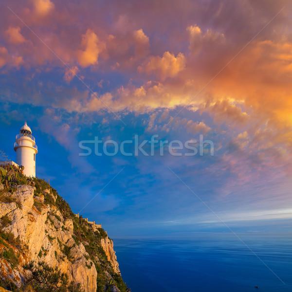Denia Javea San Antonio Cape Mediterranean Lighthouse Stock photo © lunamarina