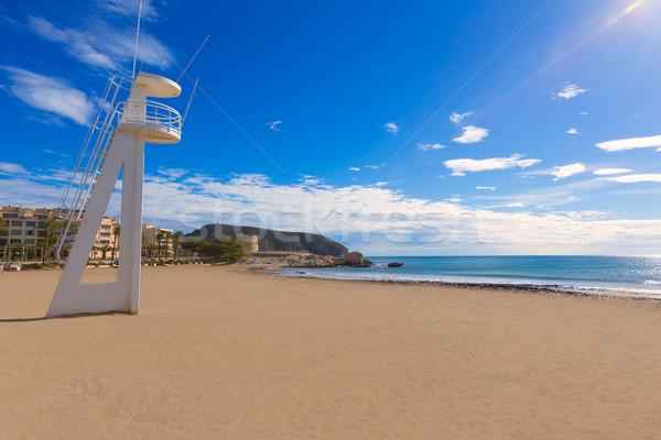 LA tengerpart Spanyolország mediterrán tenger háttér Stock fotó © lunamarina
