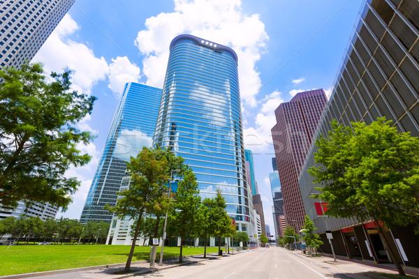 Stock photo: Houston skyline cityscape in Texas US