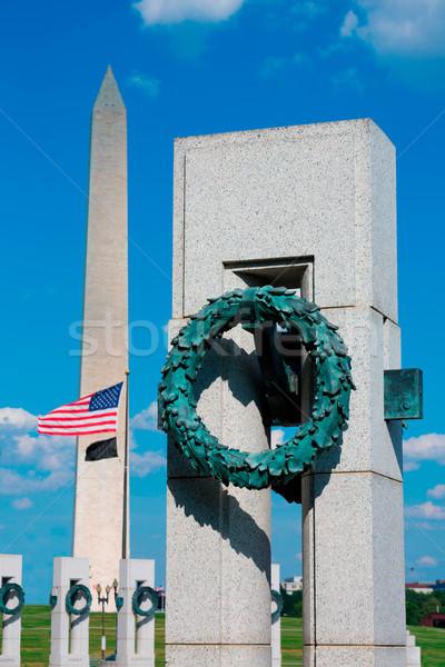Világ háború Washington DC USA épület város Stock fotó © lunamarina