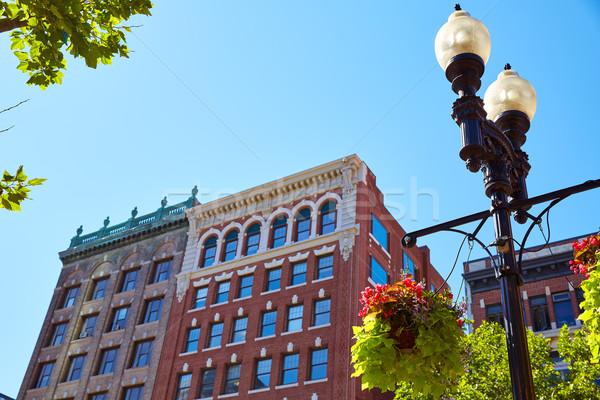 Бостон цветы квадратный Массачусетс США весны Сток-фото © lunamarina