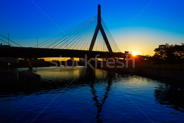 Boston ponte tramonto Massachusetts Hill USA Foto d'archivio © lunamarina