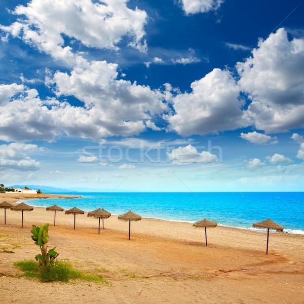 Praia mediterrânico mar Espanha nuvens fundo Foto stock © lunamarina