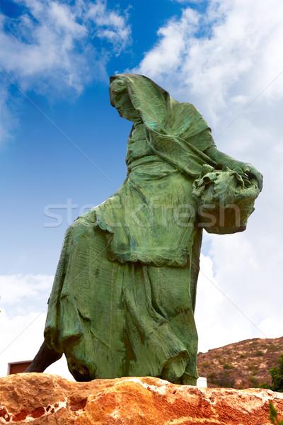 Mojacar Almeria mojaquera statue woman Spain Stock photo © lunamarina