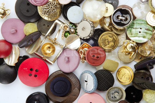 Abbigliamento pulsanti raccolta mess pattern cucire Foto d'archivio © lunamarina