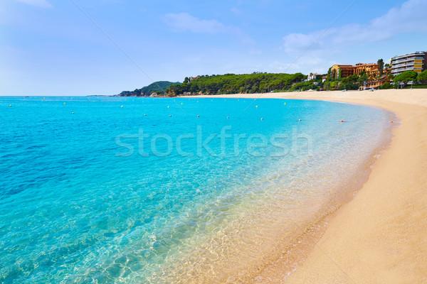 Platja Fenals Beach in Lloret de Mar Costa Brava Stock photo © lunamarina