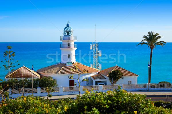 Vuurtoren Valencia Spanje middellandse zee zee strand Stockfoto © lunamarina