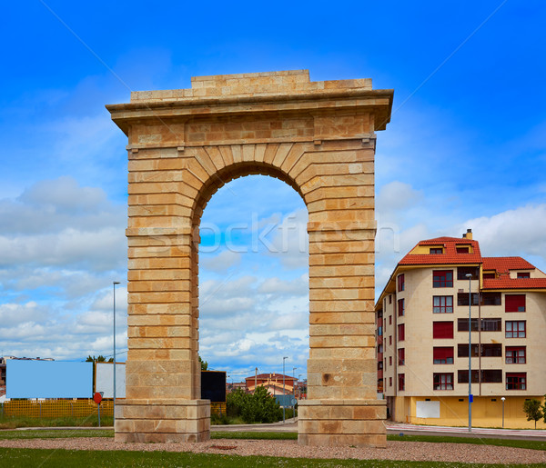 Zamora Puerta del Pescado fish door in Spain Stock photo © lunamarina