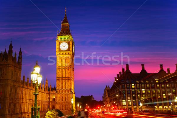 Big Ben reloj torre Londres Inglaterra cielo Foto stock © lunamarina