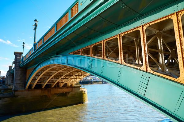 London Southwark bridge on Thames river Stock photo © lunamarina