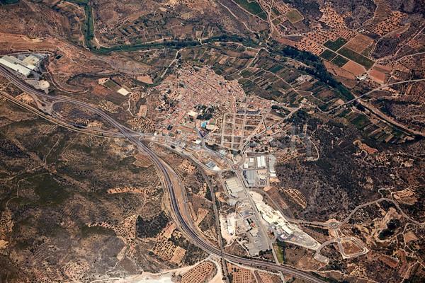 Soneja villaje aerial in Castellon Province Spain Stock photo © lunamarina