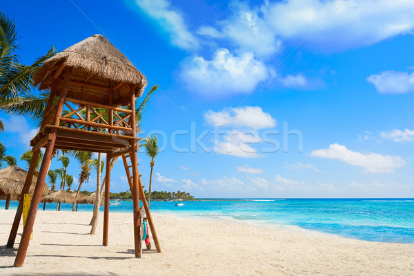 Akumal beach baywatck tower Riviera Maya Stock photo © lunamarina