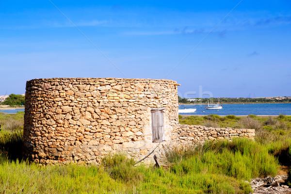 Maçonnerie hutte eau soleil nature Photo stock © lunamarina