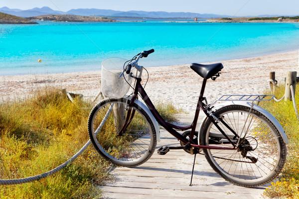 自転車 ビーチ 島々 水 草 自然 ストックフォト © lunamarina