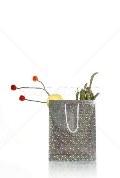 сюрреалистичный серебро торговых продовольствие сумку белый Сток-фото © lunamarina