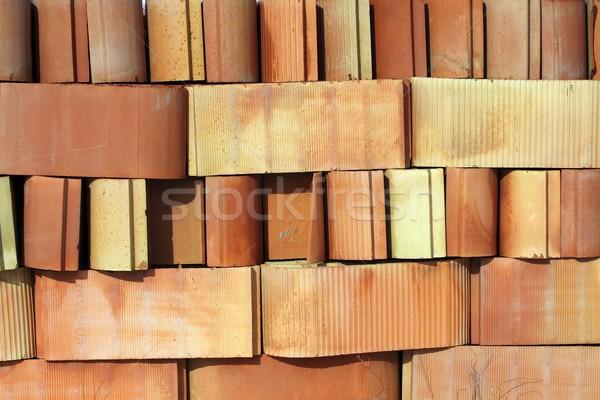 Architectuur klei gewelf tegels bouw Stockfoto © lunamarina