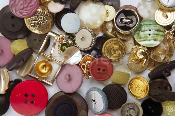 одежду Кнопки коллекция Mess шаблон швейных Сток-фото © lunamarina