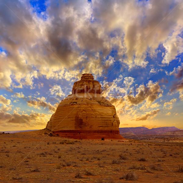 Church rock US highway 163 191 in Utah Stock photo © lunamarina