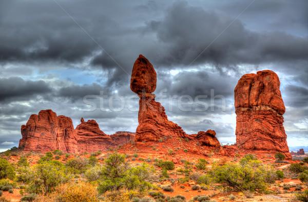 Arches National Park Balanced Rock in Utah USA Stock photo © lunamarina