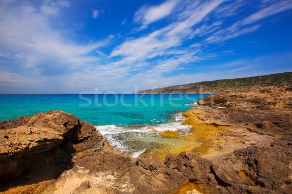 Formentera Es Calo de Sant Agusti turauoise sea Stock photo © lunamarina