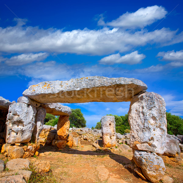Taules of Menorca Torre de Gaumes Galmes at Balearics Stock photo © lunamarina