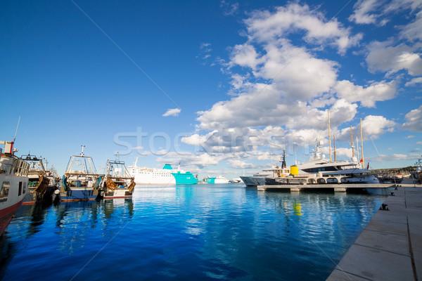 Portu niebieski lata niebo Hiszpania chmury Zdjęcia stock © lunamarina