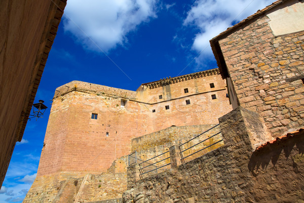 Mora de Rubielos Teruel Muslim Castle in Aragon Spain Stock photo © lunamarina