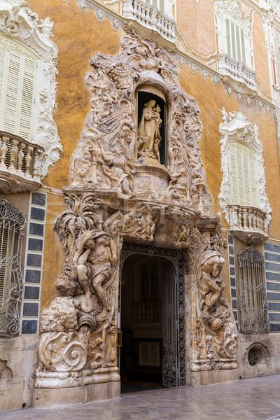 Valencia Palacio Marques de Dos Aguas palace facade Stock photo © lunamarina