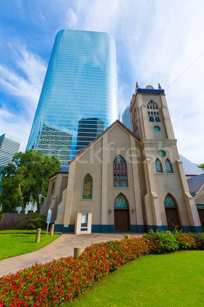 Stock photo: Houston cityscape Antioch Church in Texas US