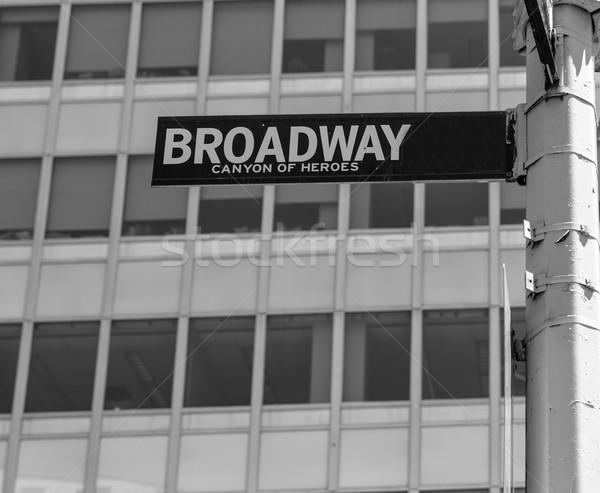 Broadway straat teken Manhattan New York USA verlagen Stockfoto © lunamarina