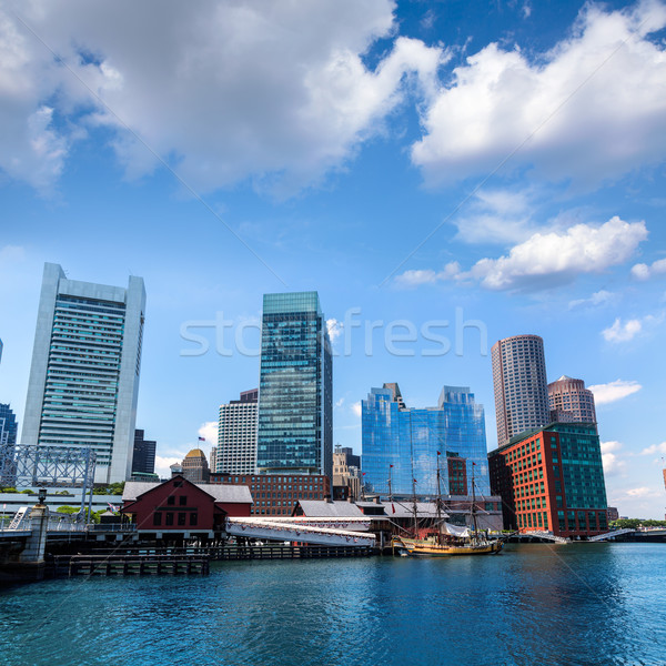 Boston Massachusetts ufuk çizgisi fan iskele ABD Stok fotoğraf © lunamarina