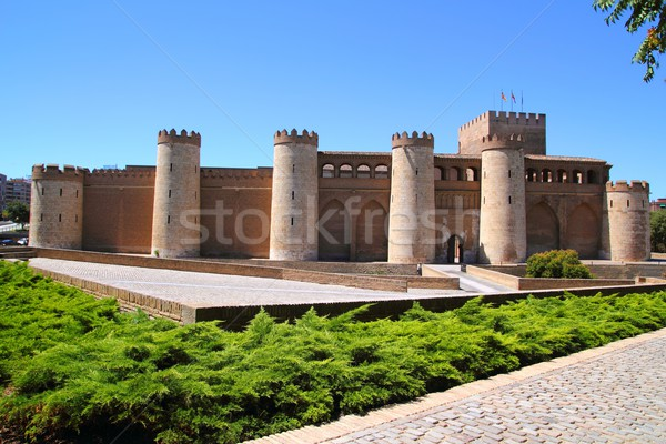 Aljaferia palace castle in Zaragoza Spain Aragon Stock photo © lunamarina