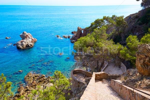Cami de Ronda track Lloret de Mar of Costa Brava Stock photo © lunamarina