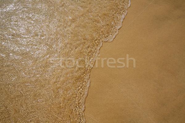 Plaży wody piasku tekstury krajobraz Zdjęcia stock © lunamarina