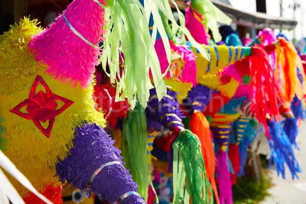 Mexican strony tkanka kolorowy papieru odznaczony Zdjęcia stock © lunamarina