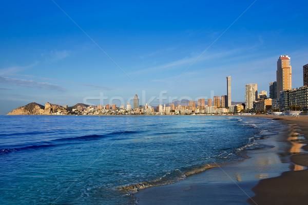 Benidorm Poniente beach in Alicante Spain Stock photo © lunamarina