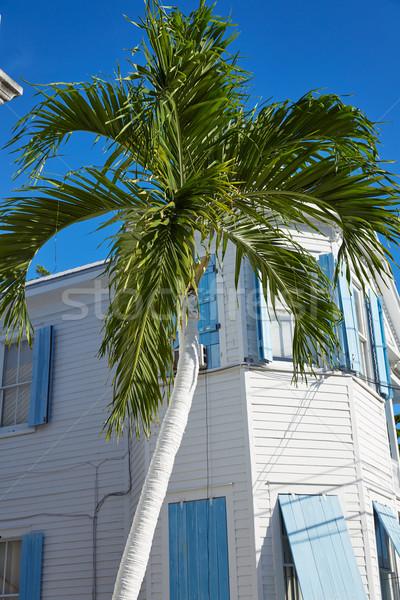Kulcs nyugat belváros utca házak Florida Stock fotó © lunamarina