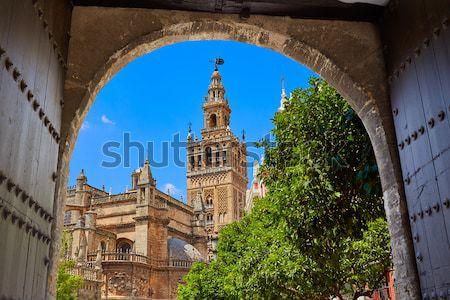 Seville cathedral Giralda tower Sevilla Spain Stock photo © lunamarina
