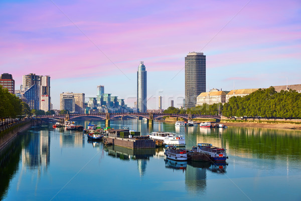 London Skyline from Thames river Stock photo © lunamarina