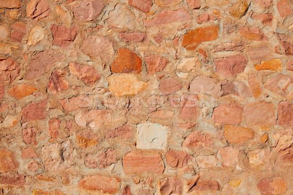 Kamieniarstwo ściany szczegół wapień kamień domu Zdjęcia stock © lunamarina
