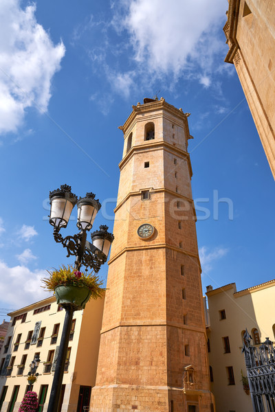 Castellon el Fadri gothic Cathedral belfry tower Stock photo © lunamarina