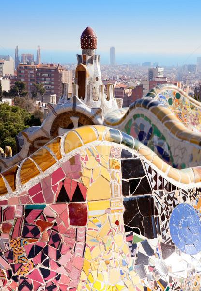 Barcelona Park Guell of Gaudi modernism Stock photo © lunamarina