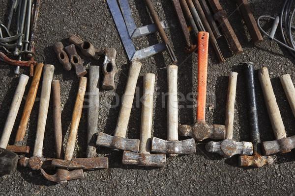 hammer handtools hand tools collection pattern Stock photo © lunamarina