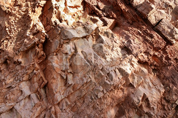 Vermelho calcário rocha textura abstrato natureza Foto stock © lunamarina