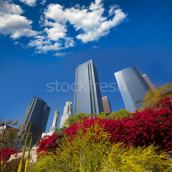 Los Angeles LA downtown at Hill street Stock photo © lunamarina