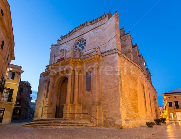 Ciutadella Menorca Cathedral in Ciudadela at Balearic Stock photo © lunamarina