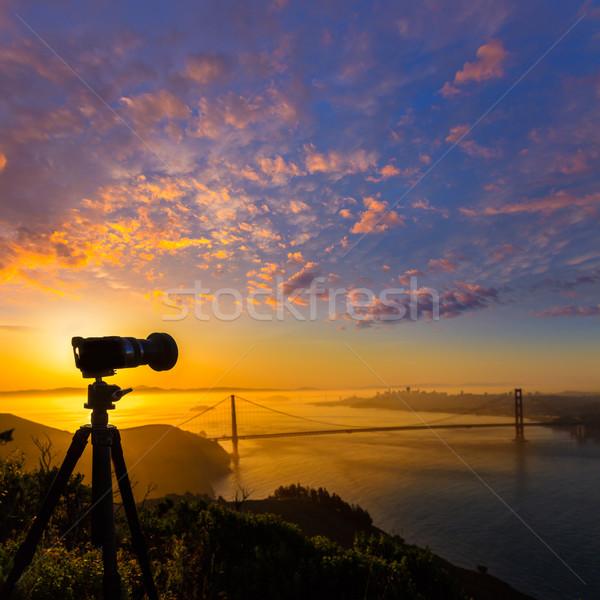 Golden Gate Bridge San Francisco nascer do sol Califórnia EUA foto Foto stock © lunamarina