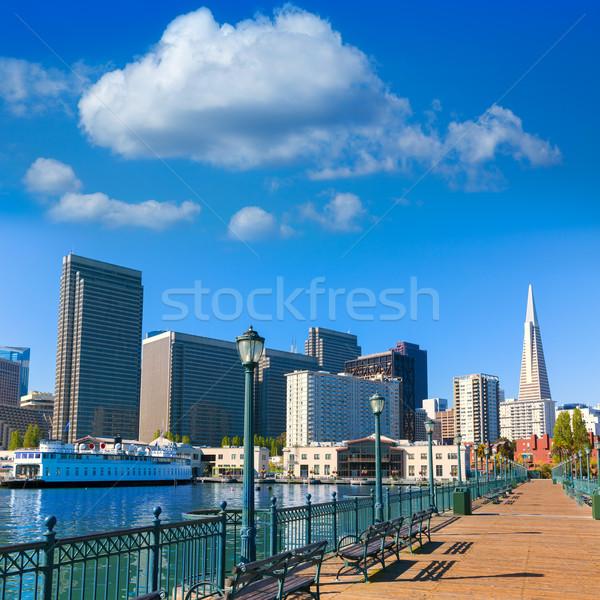 San Francisco centro pier California USA cielo Foto d'archivio © lunamarina