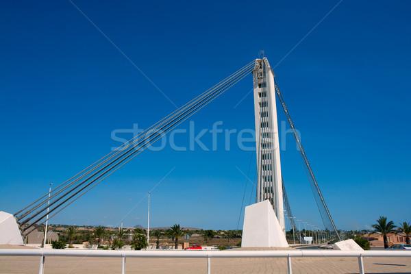 Puente colgante río España calle diseno fondo Foto stock © lunamarina