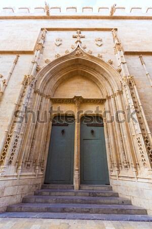 Valência la gótico fachada unesco herança Foto stock © lunamarina